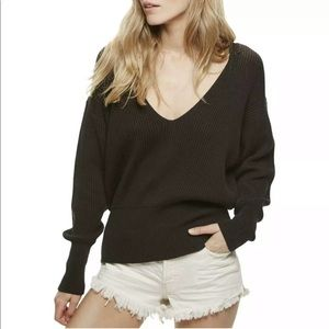 Free People Allure Ribbed Knit Pullover Sweater